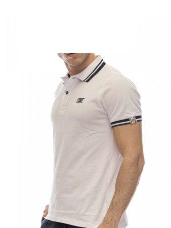 LEONE Polo T-shirt biały M [LSM1725]