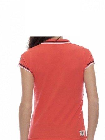 LEONE Polo T-shirt damski koralowy XS [LW1814]