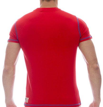 LEONE T-shirt czerwony M [LSM1663]