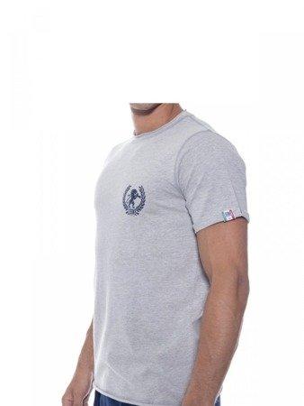 LEONE T-shirt szary melanż M [LSM1709]