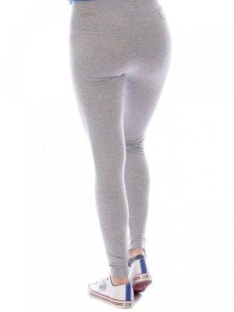 LEONE legginsy damskie szary melanż XS [LW1753]