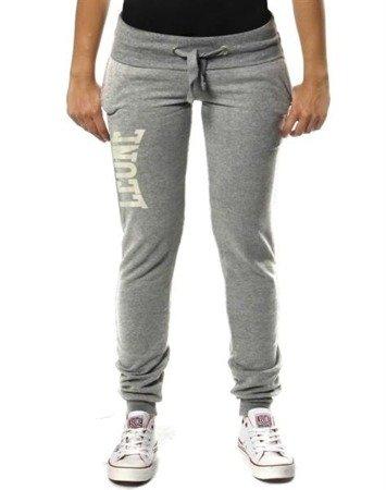 Leone - Spodnie damskie dresowe szare