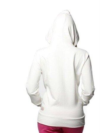 Leone - bluza rozpinana z kapturem - biały