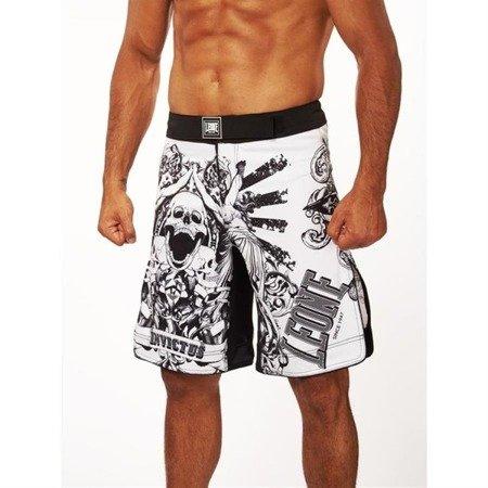 Leone1947 szorty MMA model INVICTUS białe rozmiar XS [AB791]