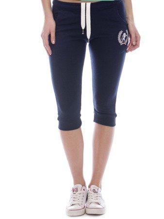spodnie dresowe 3/4 granatowe